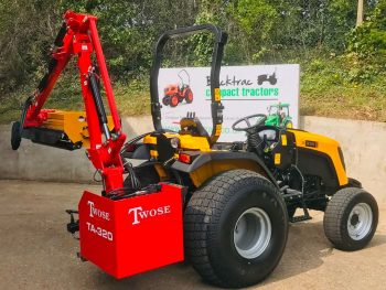 JCB 335 HST Compact Tractor with Twose TA-320 Side Arm Flail Hedgecutter