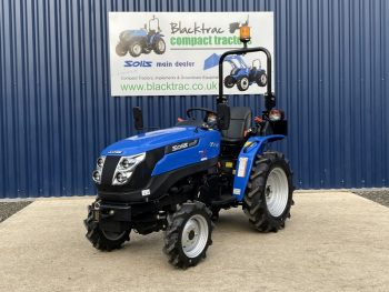 new solis compact tractor front/side view