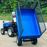 New Solis 20 Compact Tractor with New Oxdale 1.5 Tonne Dropside Tipping Trailer with Extension Mesh Sides