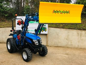 New Solis 26 Compact Tractor with Loader, 41 Bucket & Quick Detachable Snowplough