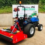 New Solis 26 Compact Tractor with New Trimax Striker 150 Roller Mower
