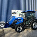 solis compact tractor with loader and bucket
