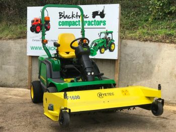 John Deere 1445 4WD Diesel Ride on Mower with Ryetec PF1600 Outfront Deck