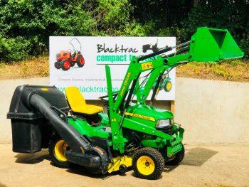 John Deere X748 4WD Diesel Ride On Mower with Loader, Mowing Deck & Collector