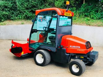 Kubota F3680 Diesel Outfront Ride on Mower with 1.55m Trimax Flail Deck