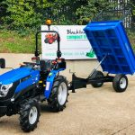 New Oxdale Heavy Duty 1.5 Tonne Dropside Tipping Trailer with Extension Mesh Sides