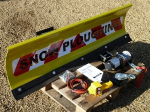 New Front Mounted 1.25m Snowplough with New Winch