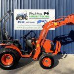 Side Profile Orange Kubota Compact Tractor