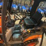 Orange Kubota Compact Tractor Seat