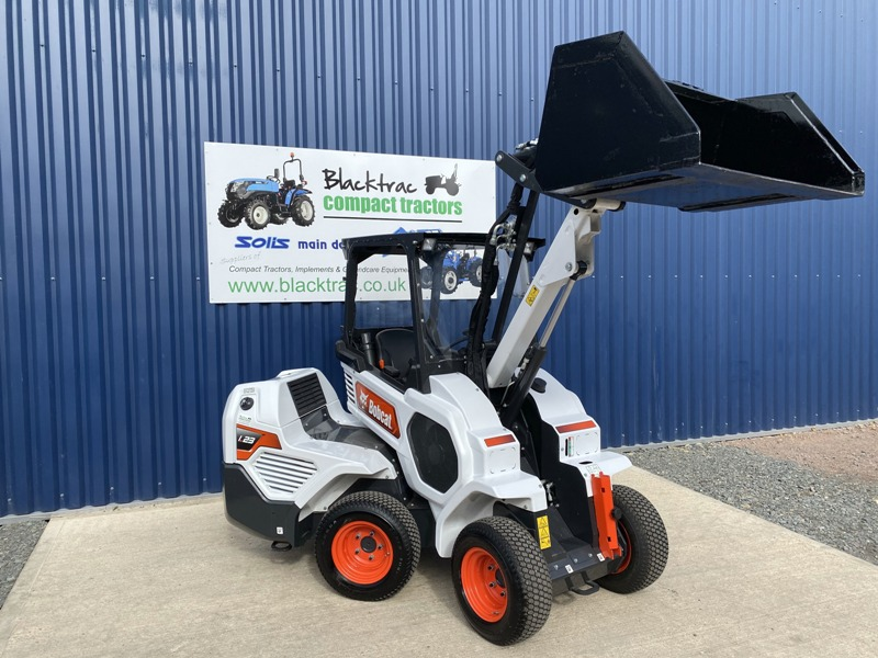 Front view of Bobcat L23 Loader with Bucket