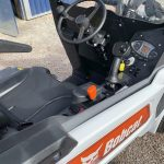 Inside cab of Bobcat L23 Loader