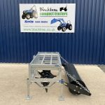 Side view of Fleming 5ft Aerator / Slitter with Roller