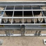 Top view of Fleming 5ft Aerator / Slitter with Roller
