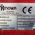 Serial plate of Hinowa HS1100 Dumper