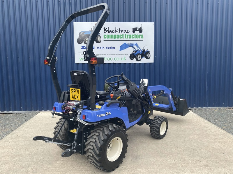 Iseki TXSG24 HST Compact Tractor with MX Loader & Bucket rear view