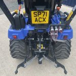 Rear view of linkage of Iseki TXSG24 Compact Tractor